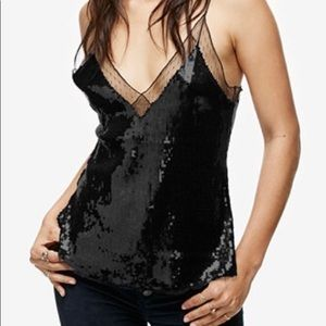NWT Free People Sequined Illusion Cami